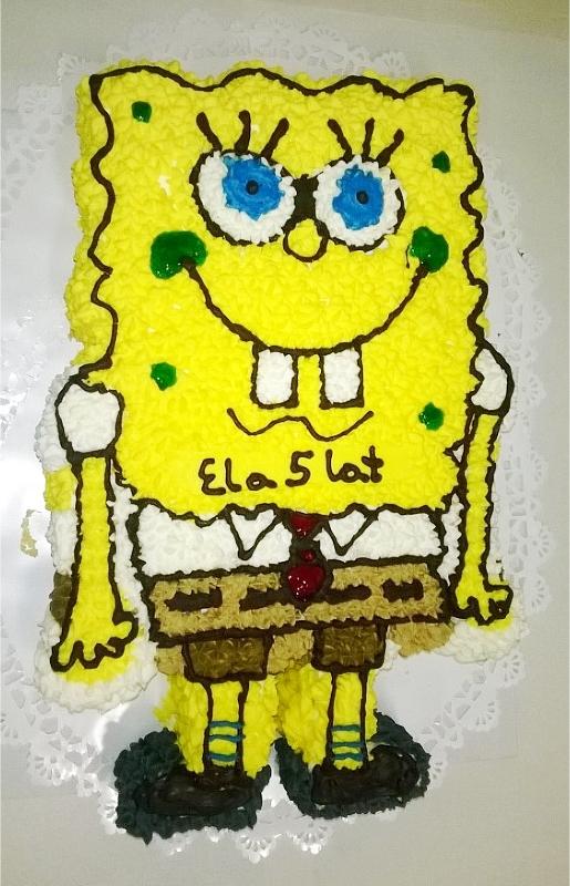SpongeBob Kanciastoporty - tort dla dzieci Cukiernia Markiza Stare Babice