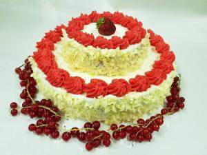 Tort weselny piętrowy Cukiernia Markiza Stare Babice