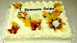Torty komunijne o różnych smakach, kształtach, z jadalnym zdjęciem - Cukiernia Markiza Stare Babice