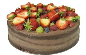Naked cake czekoladowy - Cukiernia Markiza Stare Babice
