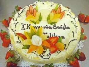 Tort komunijny - Cukiernia Markiza Stare Babice