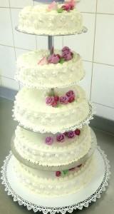 Tort weselny, kremowy - Cukiernia Markiza Stare Babice